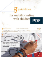 8 guidelines for usability testing with children