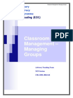 Classroom Management Managing Groups