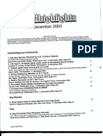 T1 B24 Doug M Misc Unclassified Fdr- CIA Press Clips- 12-11-03 Media Highlights- Cover-Table of Contents for Reference