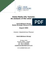 Dubai Media City Tenants an Analysis of the Value Chain