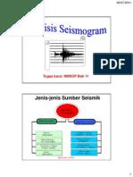 Analisis Seismogram