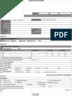 Franchise APP Form