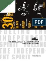 The 30th Black Maria Film & Video Festival, 2011. Program Booklet.