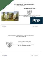 Information Bulletin M.tech, M.tech _Spon & R_ & Ph
