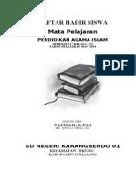 Daftar Hadir Siswa 2013-2014