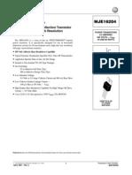 MJE16204 NPN datasheet