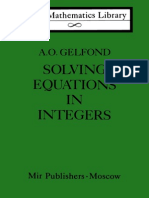 MIR - LML - Gelfond a. O. - Solving Equations in Integers
