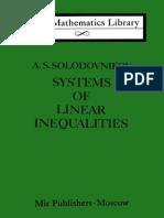 MIR - LML - Solodovnikov Aleksandr Samuilovich - Systems of Linear Inequalities - Mir Publishers Moscow (1979)