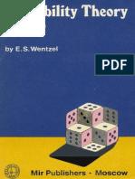 MIR - Wentzel E. S. - Probability (First Steps) - Mir 1986