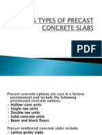 Various Types of Precast Concrete Slabs