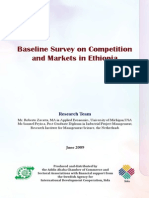 Baseline Survey on Competition and Markets in Ethiopia