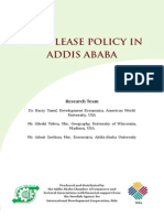 Land Lease Policy in Addis Ababa