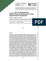 Large-Scale Runoff Generation -Parsimonious Parameterisation Using High-resolution Topography
