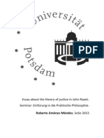 Essay About the Theory of Justice in John Rawls