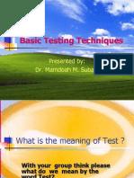 Basic Testing Techniques2