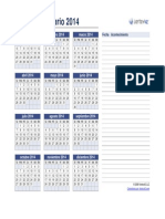 Calendario Anual 2014
