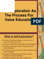 Self-Exploration as the Process for Value Education