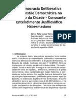 A Democracia Deliberativa e a Gestão democrática no Direito à Cidade