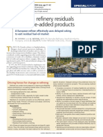 Upgrade Refinery Residuals Into Valuable Products