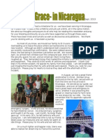 Newsletter from the Speigle family and ByGodsGrace inc. In Nicaragua