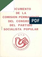Documento de la Comisión Permanente del Congreso del Partido Socialista Popular (1975)