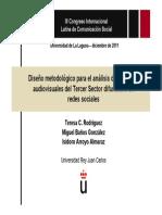 Diseño metodológico para el análisis de mensajes audiovisuales del Tercer Sector