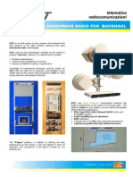 Brochure Microwave Radio for Backhaul Aviat 2011