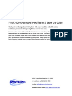Fleck 7000 Greensand Installation & Start‐Up Guide