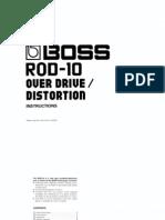 Boss ROD-10 Owner's Manual
