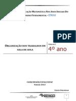 EMAI - ORGANIZAÇÃO DOS TRABALHOS EM SALA DE AULA - 4º ANO - UNIDADE 5