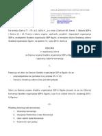 ODLUKA o raspisivanju izbora za članove organa Gradske organizacije SDP-a Ogulin i sazivanju Izborne konvencije