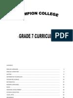 Grade7 Curriculum