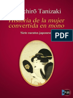 Junichiro Tanizaki. Historia de La Mujer Convertida en Mono.