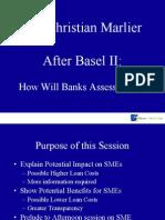 BasleMr. Christian Marlier, How Will Banks Assess SMEs