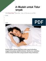 5 Langkah Mudah Untuk Tidur Lebih Nyenyak