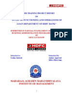 Study of Functioning and Operations of Loan Department of Hdfc Bank_(100)_2012