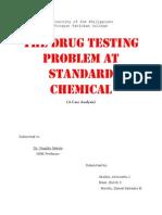 The Drug Testing Problem at Standard Chemical