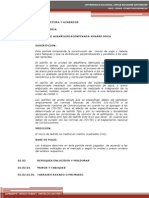 ESPECIFICACIONE TECNICAS ARQUITECTURA