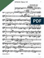 SCORE_Fernando_Sor-Fantasie Per Clarinetto - Op 54