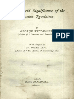 The World Significance of the Russian Revolution by G. Pitt-Rivers & Oscar Levy