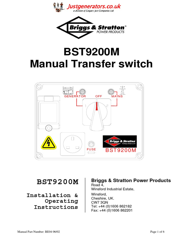 Switch Wiring Diagram On Wiring Diagram For Transfer Switch Bst9200m