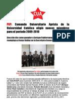 CUA PUCP - Nota Sobre Elecciones (Junio 2009)