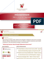 M government - A Strategic Approach to developing mobility in e-services
