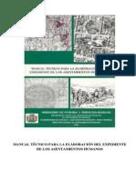 Manual Tecnico Para Elaboracion Del Expediente de Los Asentamientos Humanos