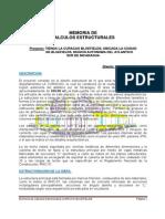 Memoria de Calculos Estructurales CURACAO BLUEFIELDS