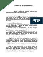 Clasificacionesde Actos Jurdicos