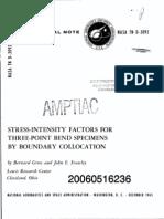 Gross Straley Stress Intensity Factors