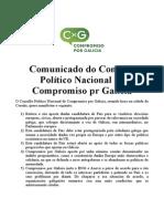 Comunicado de CxG por umha candidatura nacional galega