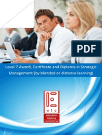 ATHE Level 7 Award Certificate Diploma in Strategic Management (by blended learning and distance learning)