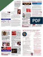 Holy Innocents Church bulletin 09.22.13